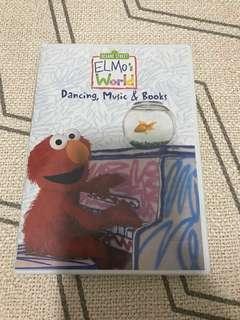 Sesame Street Elmo's world DVD- Dancing, Music & Books