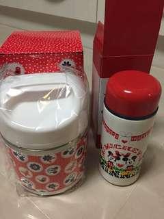 迪士尼保溫餐盒+保溫瓶組