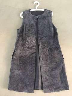 Calvin Klein Reversible Shearling Long Coat