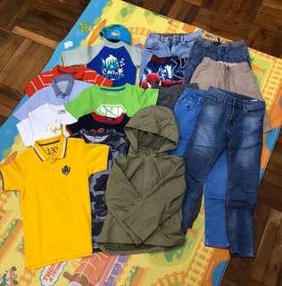 男童(約110-130碼)衫褲外套泳衣共17件