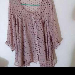 Bn Italy Regazza Silk flowy blouse