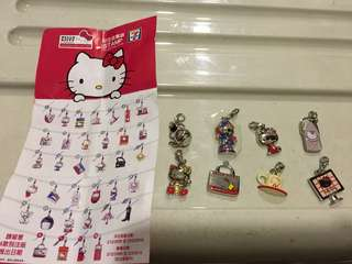 Hello Kitty 吊飾 7-11 charms