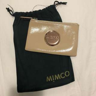 Mimco Nude Patent Leather Small Pouch • Authentic