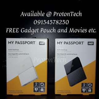 2TB WD MyPassport External Hard Drive