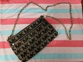 Michael Kors Mini Purse Black Monogram w/ chain strap