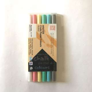 Zig Writer Chalk Pastel  Colours (Set of 6)