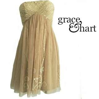 GRACE & HART tulle formal dress  size 10