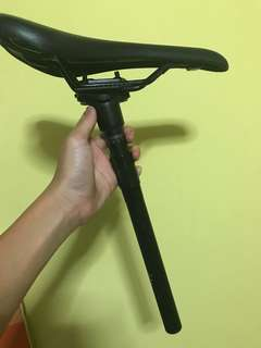 Carbon seatpost with saddle