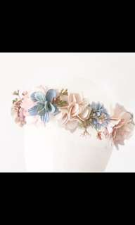 Pastel garden florie headband(perfect for flower girl,party or photoshoot)