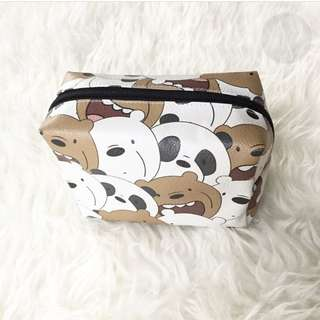 CUSTOM BOXY POUCH we bare bears wbb
