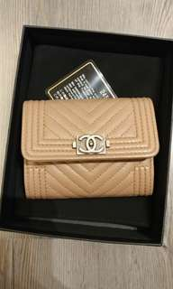 Chanel Boy mini wallet card holder