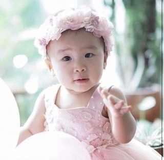 Pink florie headband