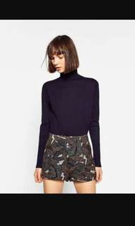 Zara jacquard shorts