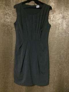 XS FREEWAY Grey Pleated Dress