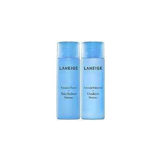 Laneige power essential skin refiner 25ml+balancing emulsion moisture 25ml