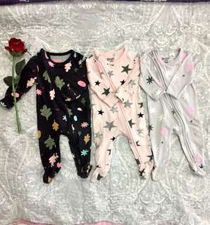 Cotton on sleepsuits 3 for RM70