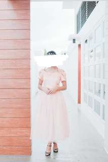 ❗REPRICED❗FOR RENT: PASTEL PINK OFF-SHOULDER DRESS