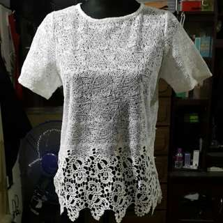Dorothy Perkins White Lace Top