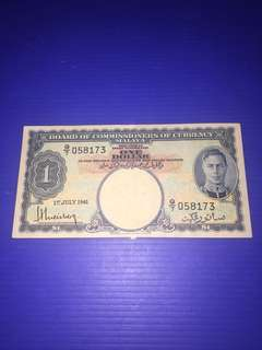 Malaya $1 year 1941