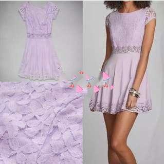 A&F 粉紫色連身裙