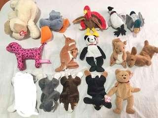 14 pcs. TY beanies toys