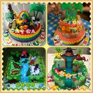 Animal & Dino Safari Theme Cake