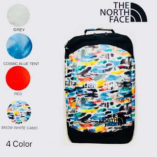 THE NORTH FACE REFRACTOR DUFFEL PACK | COSMIC BLUE TENT PRINT | TNF GREY | CAMO PRINT | TNF RED | SNOW WHITE CUTOUT CAMO PRINT