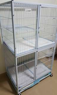Two tier cat cage