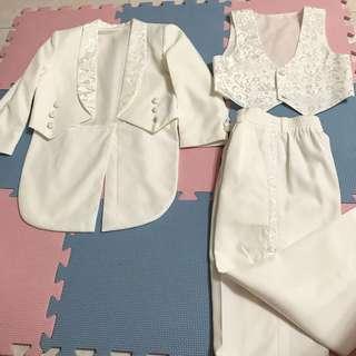 ⭐️男童 白色禮服1套6件裝 99%new