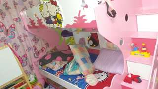 Hello Kitty Double Deck Bed