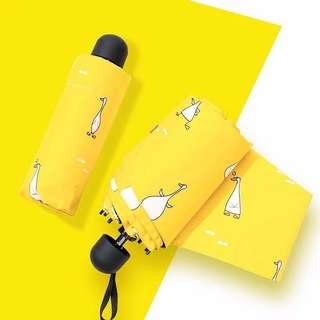 #黃色鴨子便攜傘