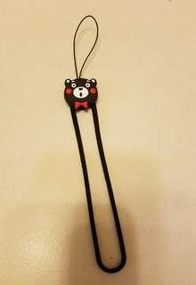 精緻熊本熊手機繩帶