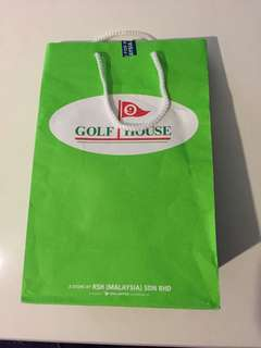 Golf house ( green ) paper bag 12,8&hlf,4&hlf inches