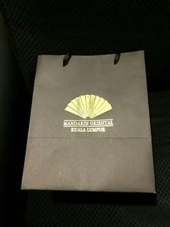 Mandarin oriental paper bag (12,10,8 inches)