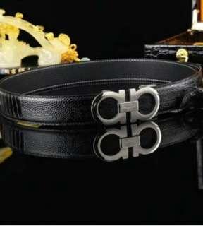Ferragamo men's leather belt