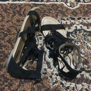 BRASH Fringed Gladiator Sandals(slightly used)