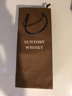 Suntory whisky paper bag ( 11,5, 4 inches )