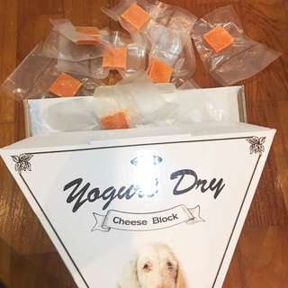 Dog yogurt dry cheese block