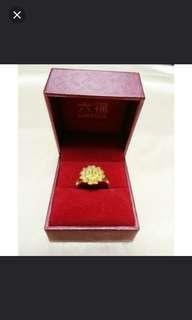 結婚金器 仿金花戒指 金花介指 連六福盒 敬茶 裙褂 fake golden ring