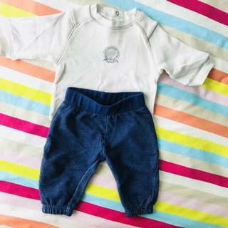 Baby Top & Pants 0-3mths