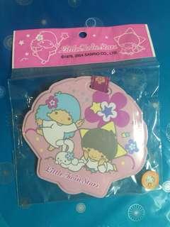 Year 2004 Little Twin Stars Name Tag 貝殼 Sanrio Co Ltd  Size :7.50 x 8.50 cm  掛於書包,旅行袋,購物袋 包本地平郵