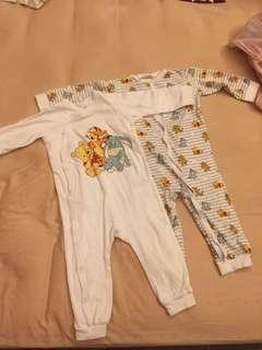 Winnie pooh jumper pyjamas set