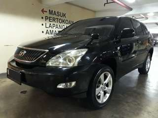 Toyota Harrier ALKANTARA 3.0 AT th.2004.Type BIASA.2WD(irit).Non SUNROOF.nopol B-JAKPUS