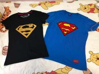 2x Superman tshirt