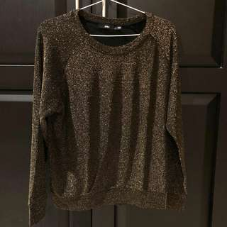 Gold embroidered sweater