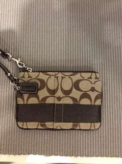 New Coach clutch with wristlet