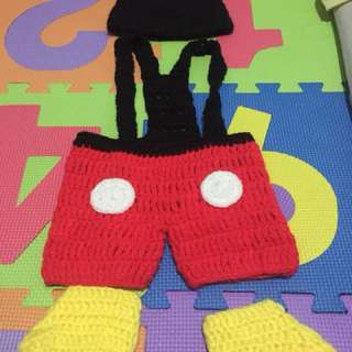 crochet costume mickey mouse