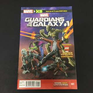 Marvel Universe: Guardians Of The Galaxy 1 Comics Book Avengers Movie