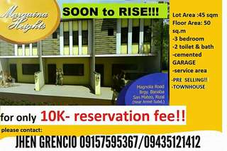 3 bedroom townhouse near QC and Marikina