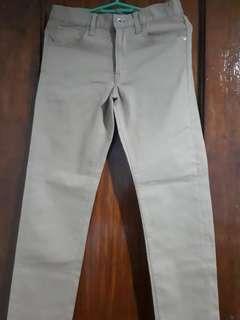 Uniqlo Pants (Khaki Color) (Slim Fit)